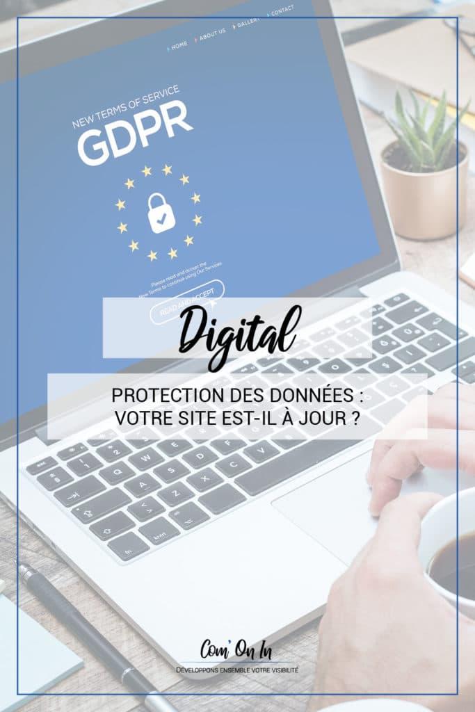 protection données site web