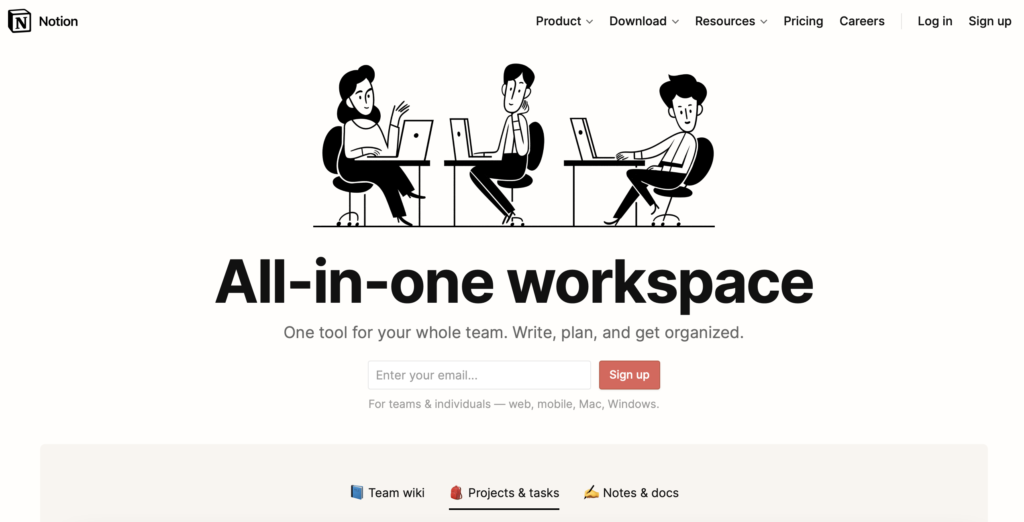 Notion s'organiser en étant entrepreneur ou freelance